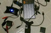 Carga multi-volatage dispositivos mientras que camping con panel solar