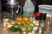 Salsa picante de tomate verde