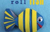 BRICOLAJE decoración de peces Portarrollos de papel higiénico.