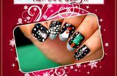 Diseño de arte de uñas de Navidad