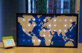 Sparkle Motion: Un LED mapa mundial impulsado por datos globales de tráfico de Twitter