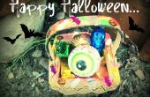 Decoración de cesta de Halloween fácil