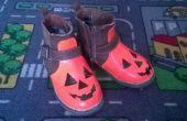 Zapatos de la calabaza de calabaza un poco
