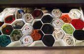Organizador de calcetines de nido de abeja