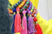 Cuerda y borla brazaletes