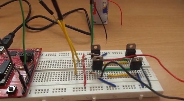 Circuito H : Construir su propio circuito puente h utilizando npn transistor