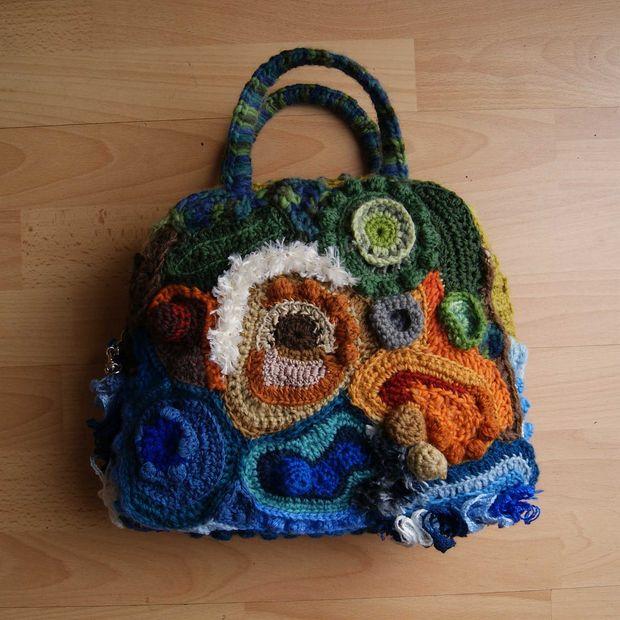 Bolso de Crochet Freeform: - askix.com