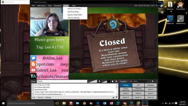 Guía de un principiante a XSplit Broadcaster y Streaming en Twitch