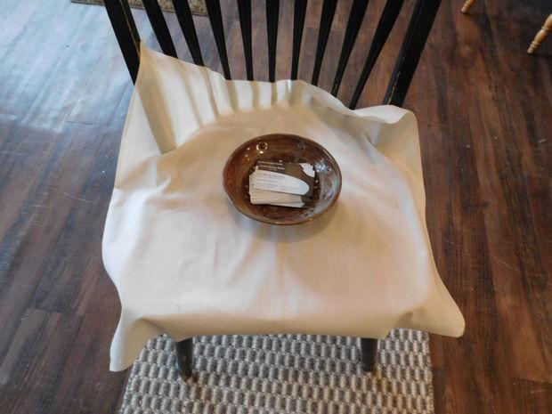 Comedor Slipcover de la silla - fácil / Paso 5: Asiento - hacer ...