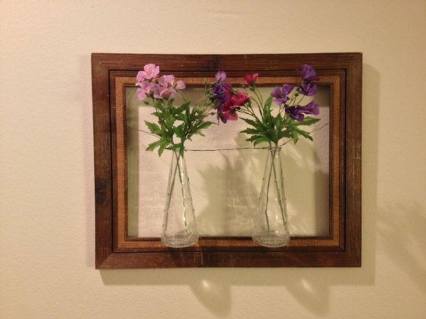 Marco Flores floreros pared arte - askix.com