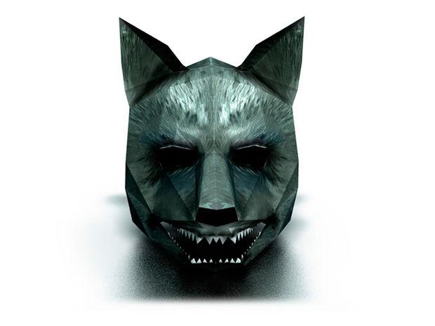 68d9c1f4267 Máscara de papel de Lobo 3D DIY - askix.com