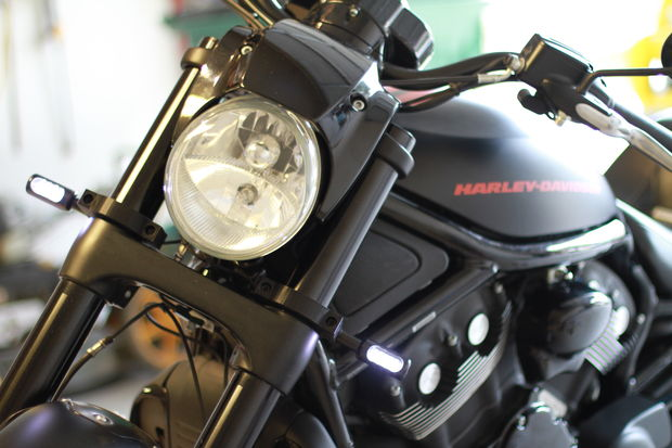 Harley Davidson VROD 55mm custom signal mounts - askix.com