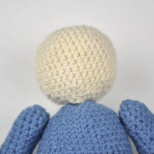 Ganchillo amigurumis de Megaman (Mega Man) / Paso 6: Poner la cabeza ...