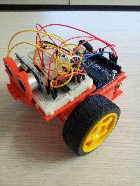 Juguete Uno Y De Coche Del Arduino Motor Con 3dprinting TJK1clF