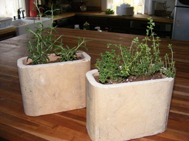 Reciclar potes de flor teja chimenea - Reciclar marmol ...