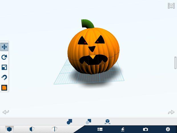 Para imprimir calabaza realista 3-d (con Jack-o-lanturn - askix.com
