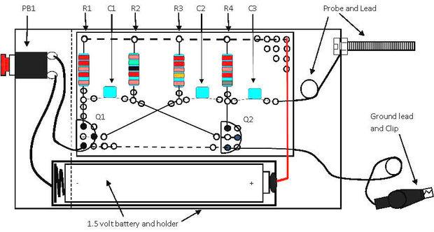 un inyector de se u00f1al de audio simple de la caja de tic tac