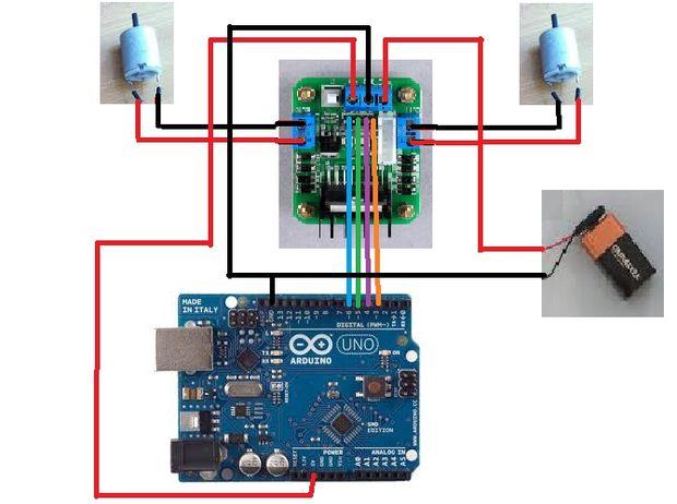 brushed motor speed controller, dual motor controller, dc motor controller, arduino bulldozer motor controller, on sabertooth motor controller schematic