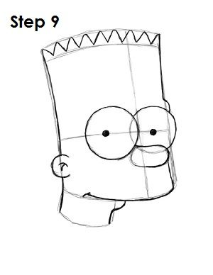 Cómo Dibujar A Bart Simpson Los Simpson Paso 9 Paso 9 Askixcom