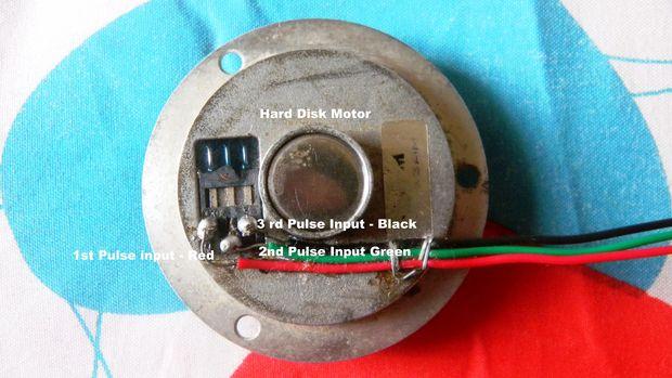 Funcionamiento motor de huso HDD usando IC 4017 + 555 + ... on