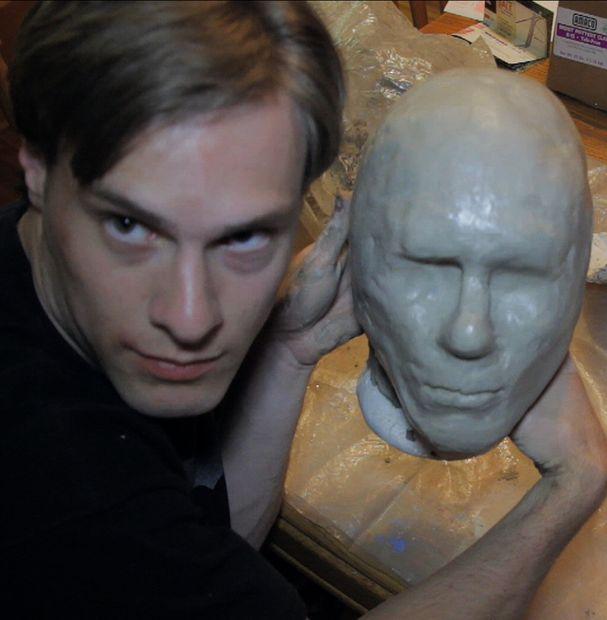 Látex Máscara Parte 1 Molde De Cabeza Y Arcilla Sculpt