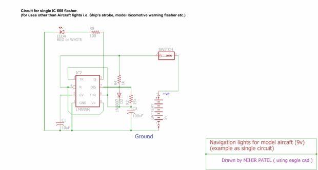 luces de navegaci u00f3n de aviones de modelo  1    paso 5  el circuito de soldadura