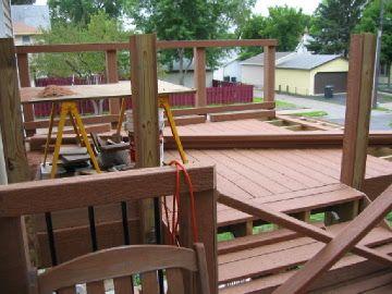 Dos Niveles Terraza Y Patio Paso 9 Pasamanos Construir