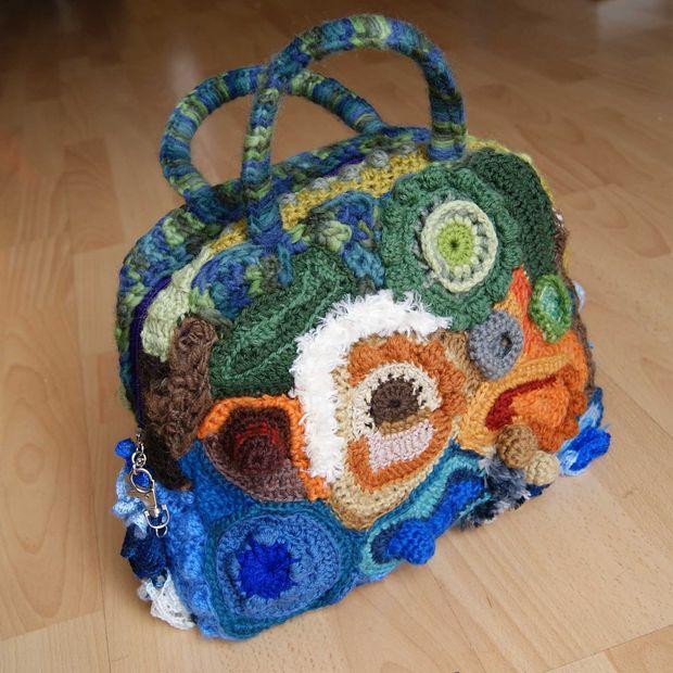 Bolso de Crochet Freeform: / Paso 12: Acabado freeform crochet bolso ...