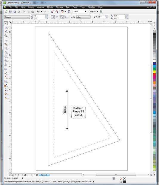 Añadiendo margen de costura a un patrón en CorelDRAW - askix.com