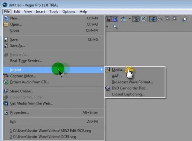 Como Usar Sony Vegas Pro Paso 1 Importar Clips De Askix Com