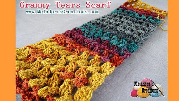 Abuelita lágrimas bufanda-patrones de ganchillo gratis - askix.com