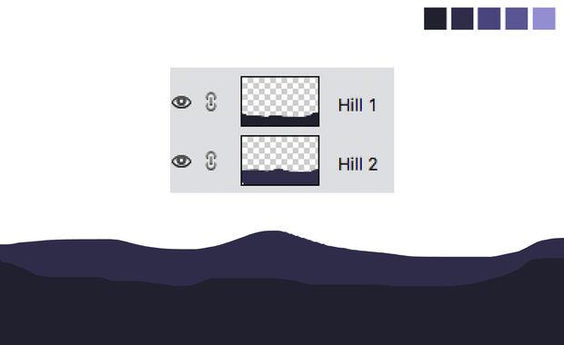 Crear un paisaje Simple en Photoshop / Paso 4: Capas y colores ...