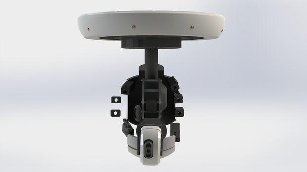 robótica Un GlaDOS imprimible plafón totalmente 3D brazo kuZiOTPX