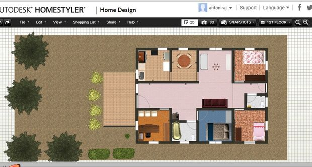 Dise ar tu casa con autodesk homestyler for Disenar casa online con autodesk homestyler