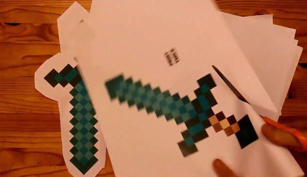 Minecraft Para Colorear Espada De Diamante
