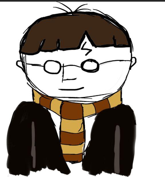 Sencillo Harry Potter Cartoon dibujo - askix.com