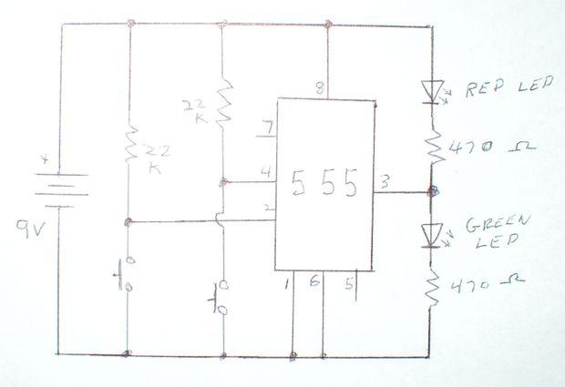Circuito Oscilador 555 : Modos temporizador mono estable y biestable paso el