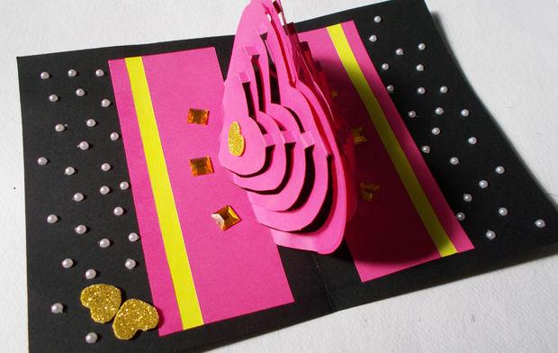 Tarjeta de Kirigami 3D DIY que hace Ideas Cmo hacer tarjeta popup