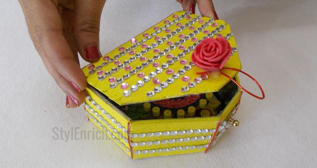 Facil Reciclado Manualidades Como Hacer Caja De Joyeria Hecha A