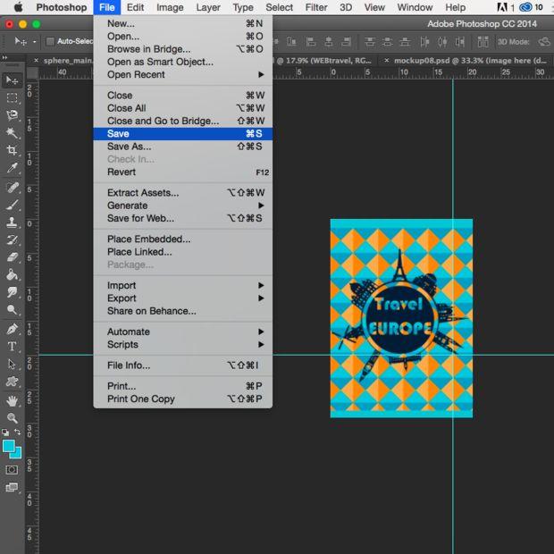 Uso de plantillas en Adobe Photoshop / Paso 2: Agregar fotos - askix.com