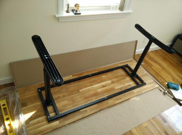 hacer una tabla de bloque de carnicero hermosa con encimera de madera ikea y el armazn de escritorio ikea