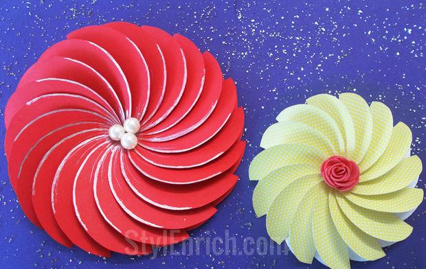 Como Hacer Flor De Papel Facil Espiral Para Proyectos De Bricolaje