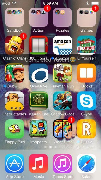 Captura de pantalla ipod