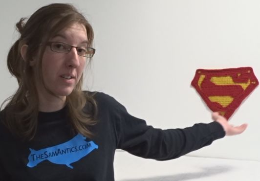 Cómo el símbolo de Superman de ganchillo - askix.com
