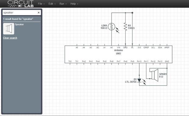 Circuito Ldr : Simple brillo indicador y alerta mediante ldr arduino python