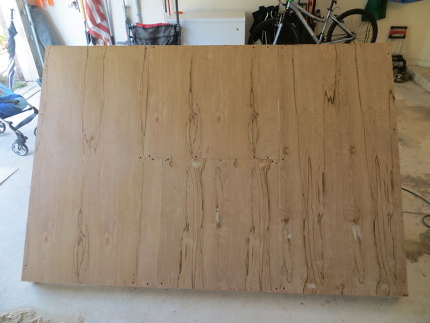 Rey tamaño madera plataforma cama y cabecero con luces integradas y ...