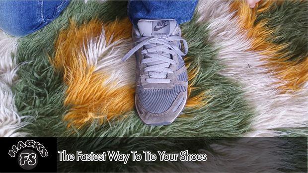 Esta es la forma más rápida de atar tus zapatos Cómo