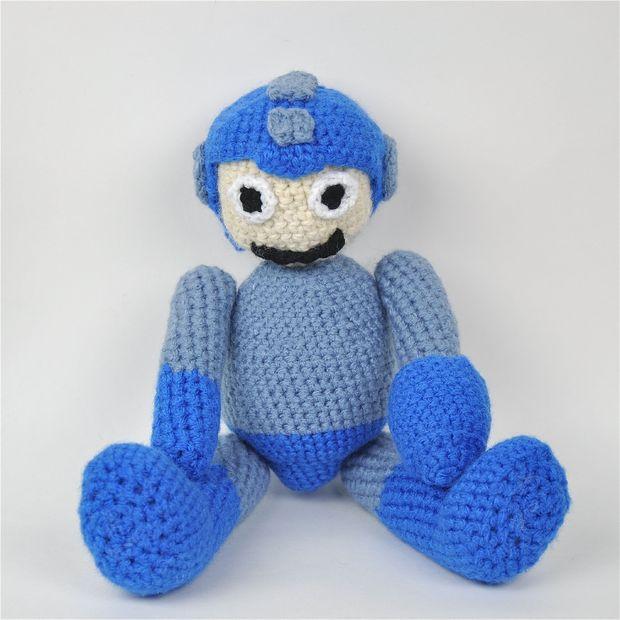 Ganchillo amigurumis de Megaman (Mega Man) - askix.com