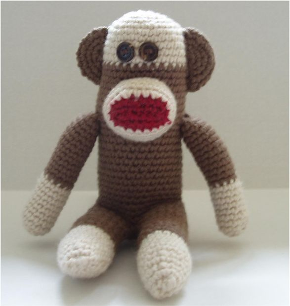 Mono de calcetín de ganchillo - askix.com