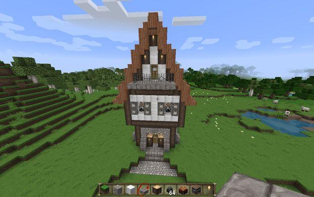 C mo construir una casa medieval en minecraft paso 11 for Como hacer una casa clasica de ladrillo en minecraft